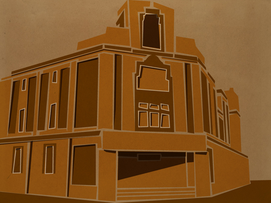 Illustration of the old bingo hall, Portland Road, Hove