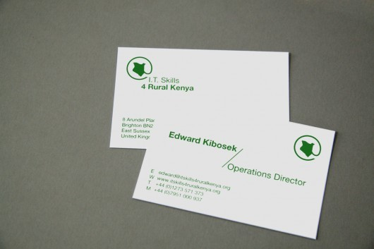 IT Skills 4 Rural Kenya Business Cards and Logo