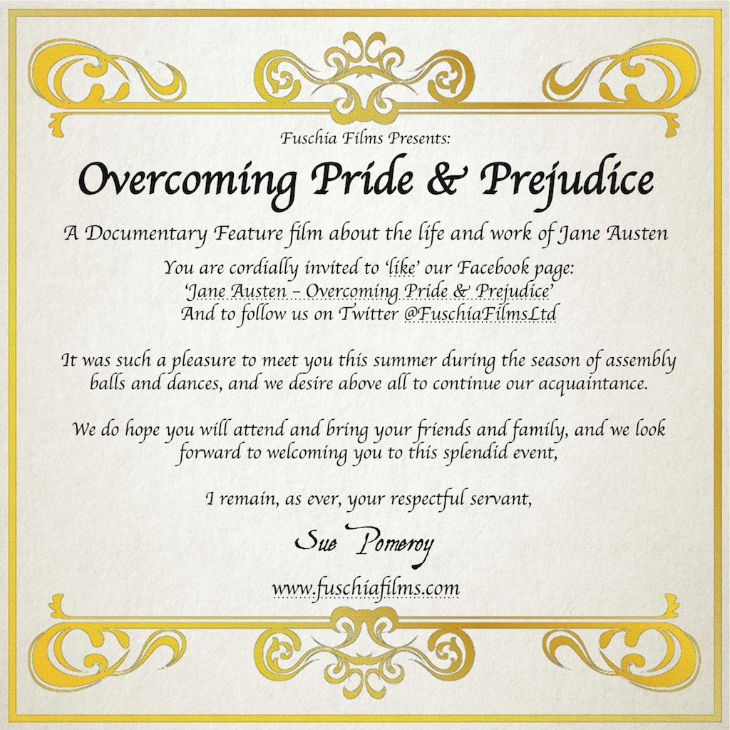 Overcoming Pride & Prejudice Invitation