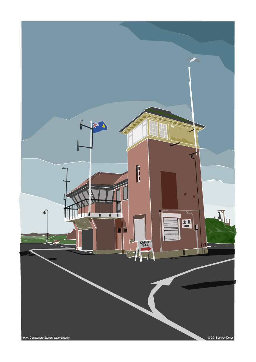 Illustration of HM Coastguard Station in Littlehampton
