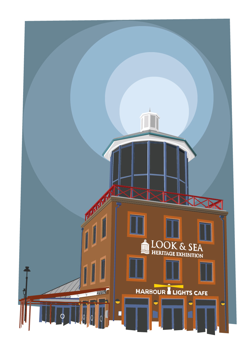 Illustration of the Look & Sea Heritage Exhibition Centre and Cafe