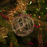 Wire Christmas Bauble Decorations