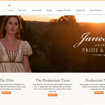 Jane Austen Productions – Website Design