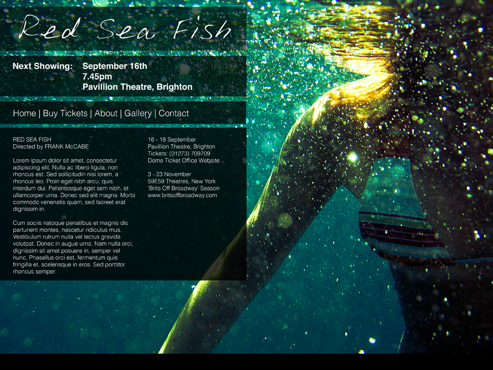red-sea-fish-theatre-website-graphic-design