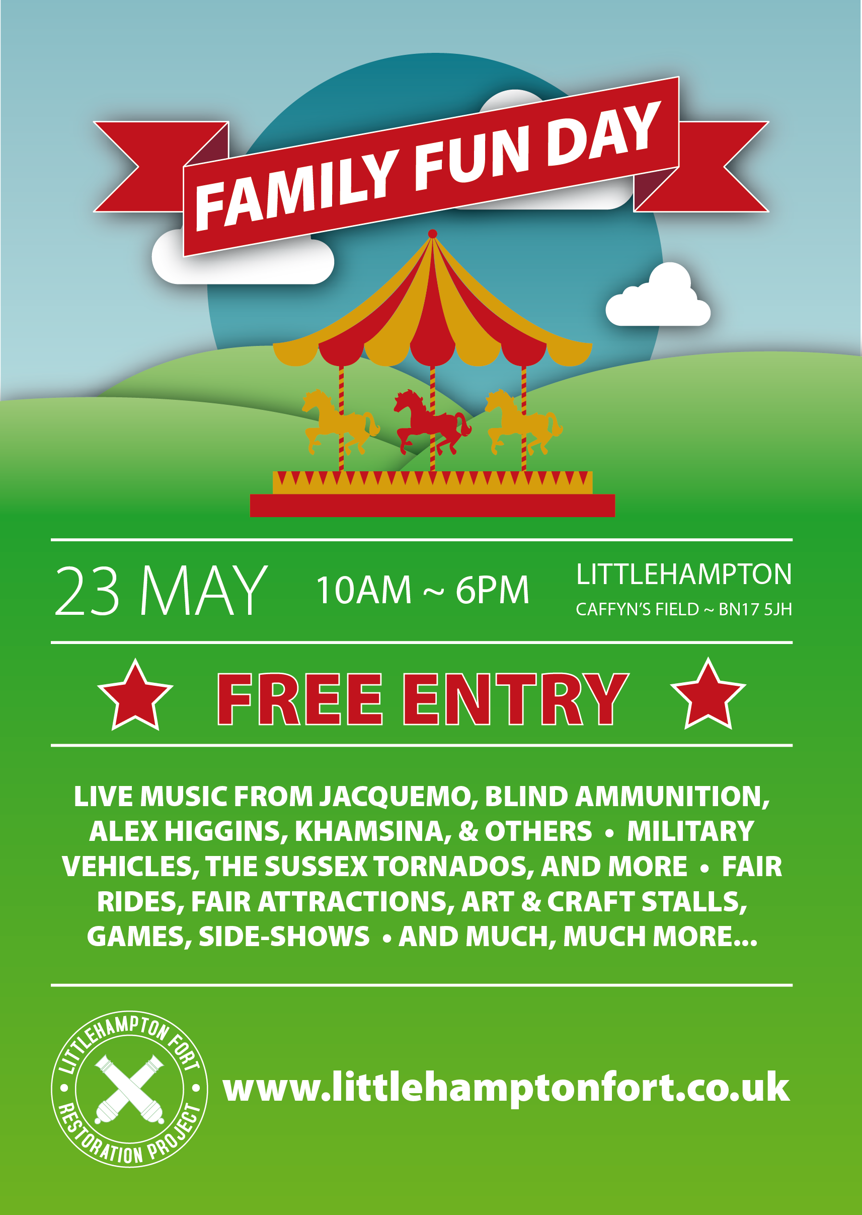 Fun Day 2015 Littlehampton Poster Graphic Design