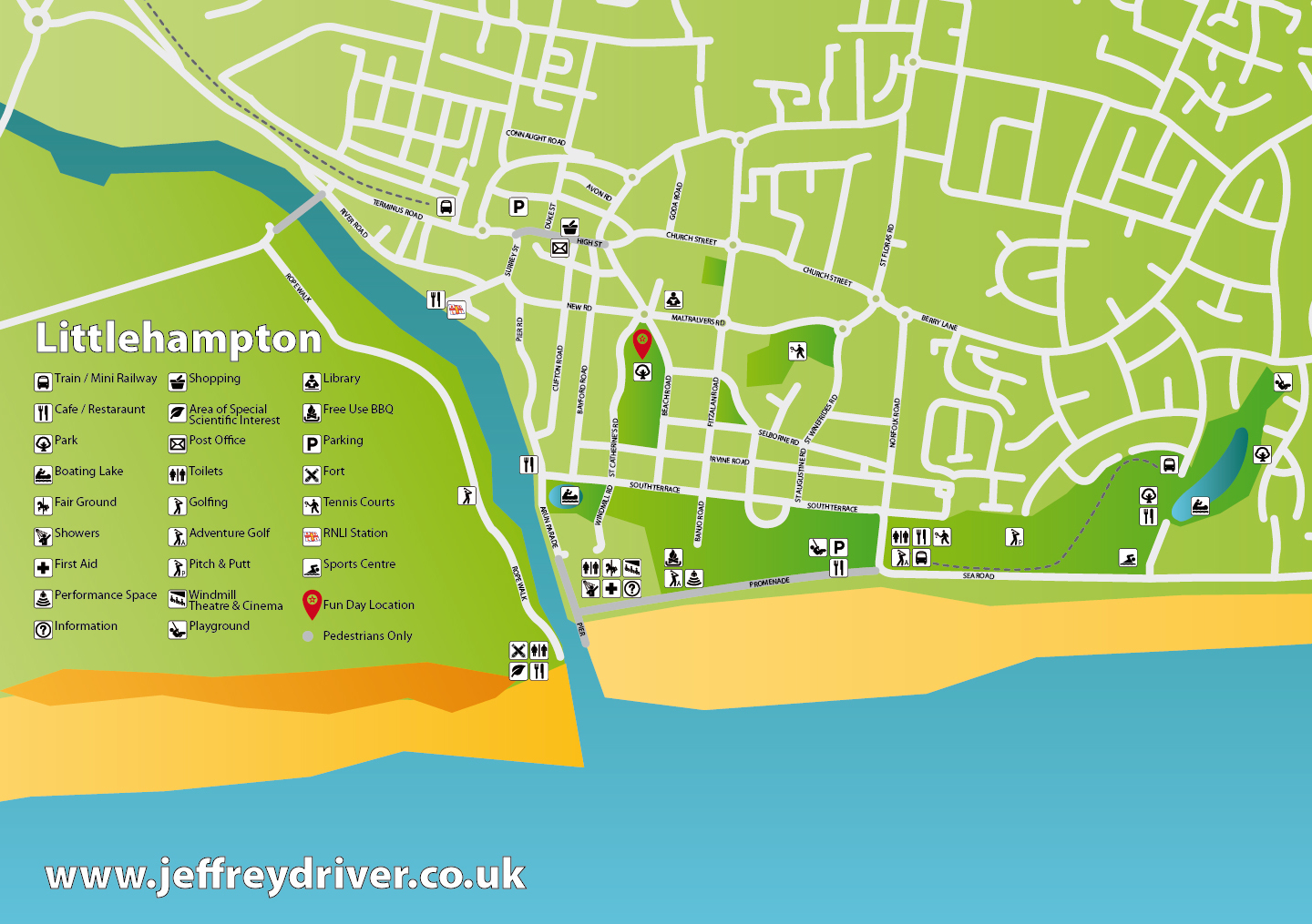 Map of Littlehampton - Graphic Design